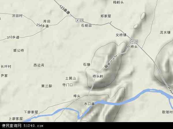 中国广西壮族自治区桂林市全州县石塘镇地图