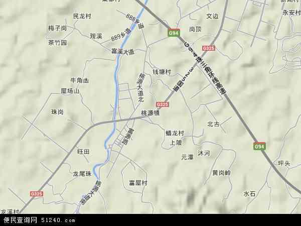 中国广东省江门市鹤山市桃源镇地图(卫星地图)图片