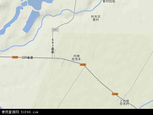 中国新疆维吾尔自治区伊犁哈萨克自治州伊宁市托格拉克乡地图(卫星