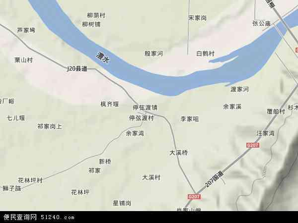 中国湖南省常德市临澧县停弦渡镇地图(卫星地图)