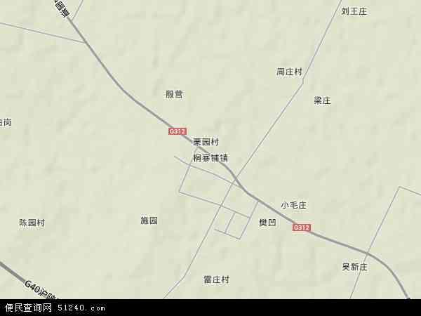 桐寨铺镇地形地图