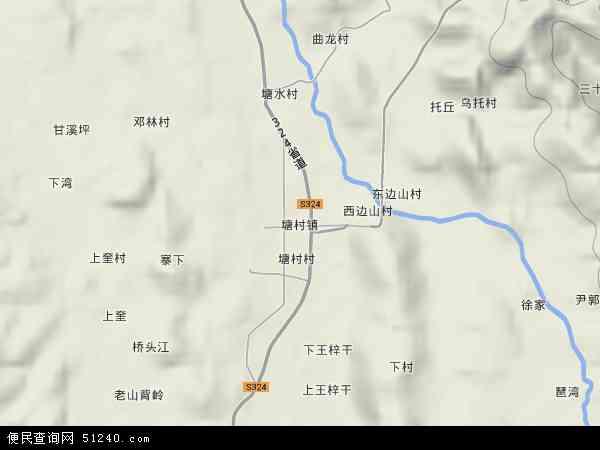 塘村镇地图 - 塘村镇卫星地图