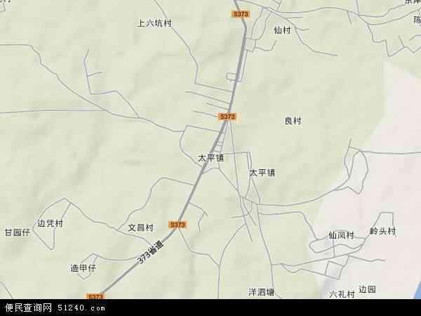 中国广东省湛江市麻章区太平镇地图(卫星地图)