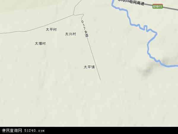 中国黑龙江省双鸭山市集贤县太平镇地图(卫星地图)图片