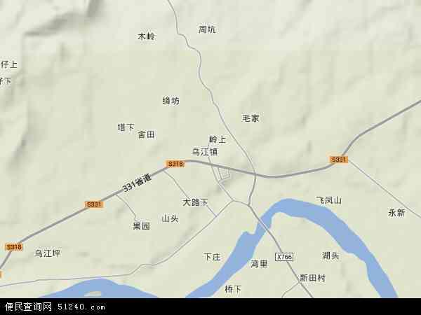 中国江西省吉安市吉水县乌江镇地图(卫星地图)