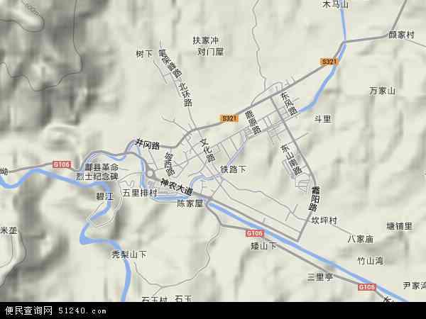 中国湖南省株洲市炎陵县霞阳镇地图(卫星地图)