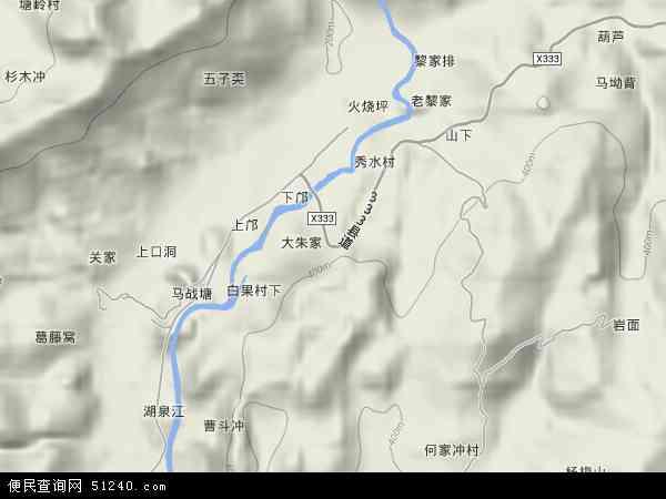 中國廣東省韶關市樂昌市秀水鎮 /strong>地圖(衛星地圖)圖片