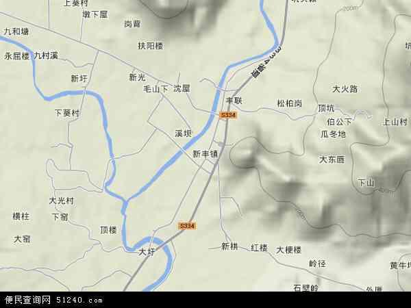 新丰镇2017年卫星地图 中国广东省潮州市饶平县新丰镇地图