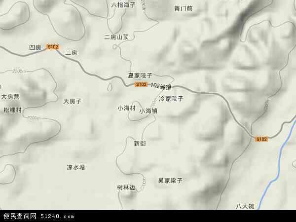 小海镇2017年卫星地图 中国贵州省毕节市威宁彝族回族苗族自治县小