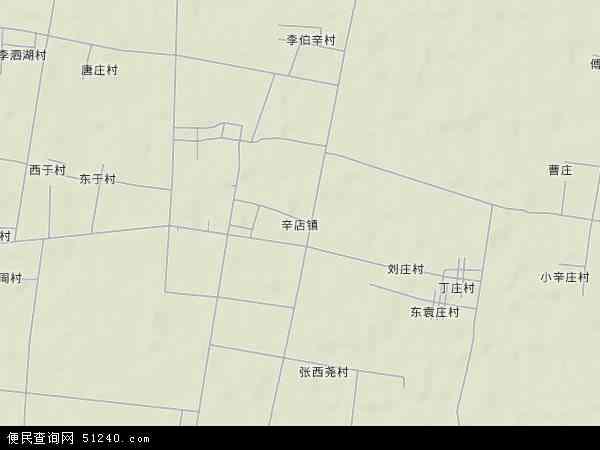 中国山东省德州市禹城市辛店镇地图(卫星地图)