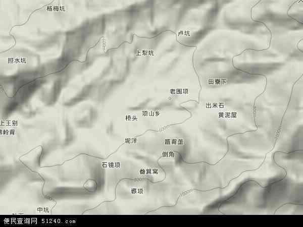 项山乡2018年卫星地图 中国江西省赣州市寻乌县项山乡地图图片