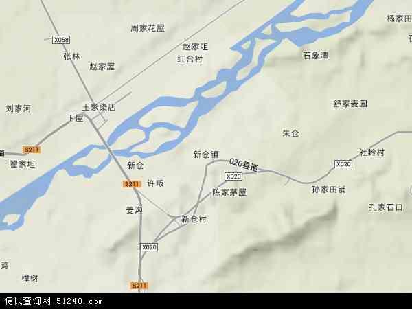 中国安徽省安庆市太湖县新仓镇地图(卫星地图)