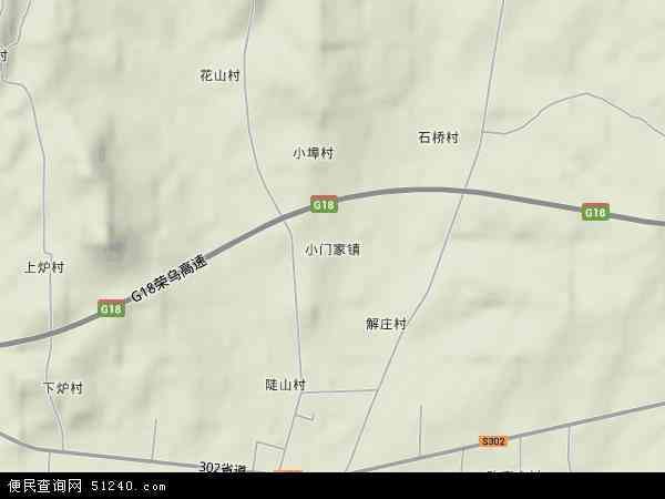 中国山东省烟台市蓬莱市小门家镇地图(卫星地图)