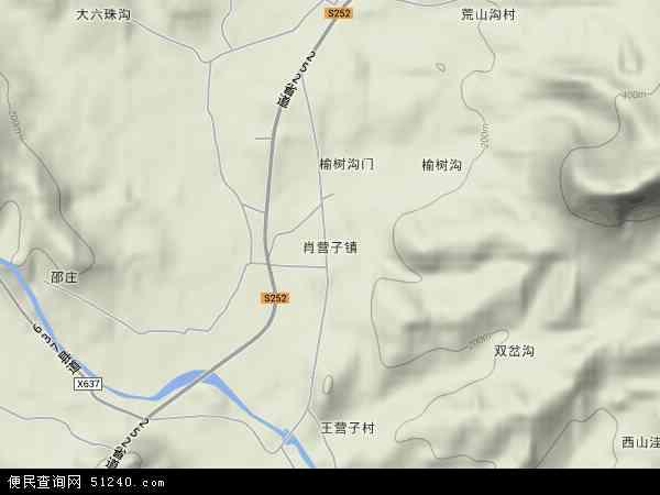 中国河北省秦皇岛市青龙满族自治县肖营子镇地图