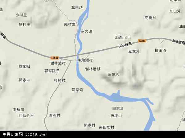 谢林港镇高清卫星地图 谢林港镇2018年卫星地图 中国湖南省益阳市