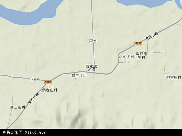 中国天津市蓟县西龙虎峪镇地图(卫星地图)