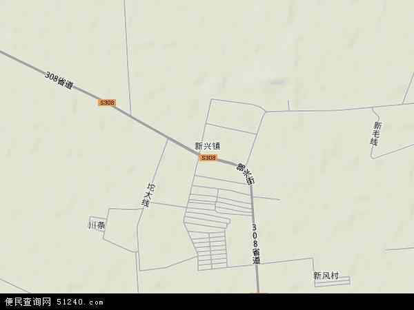 中国辽宁省盘锦市大洼县新兴镇地图(卫星地图)