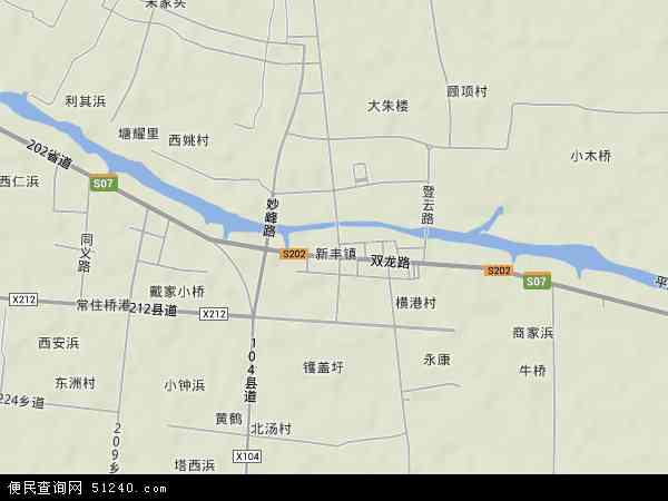 中国浙江省嘉兴市南湖区新丰镇地图(卫星地图)