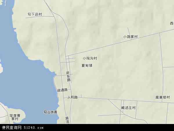 中国山东省烟台市招远市夏甸镇地图(卫星地图)