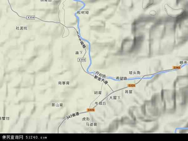 中国江西省赣州市信丰县新田镇地图(卫星地图)
