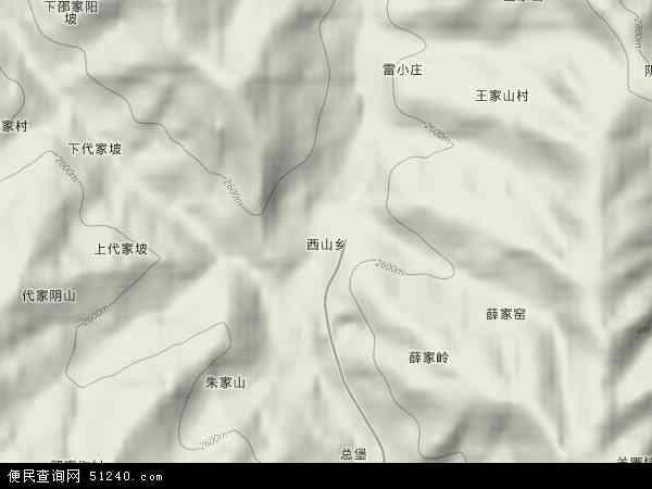 中国青海省海东市互助土族自治县西山乡地图(卫星地图)