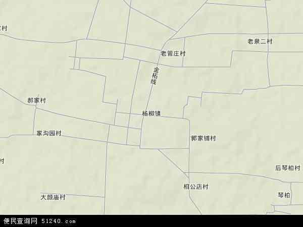 杨柳镇2017年卫星地图 中国山东省济宁市泗水县杨柳镇地图