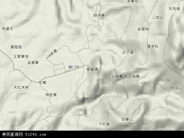 中国云南省临沧市凤庆县营盘镇地图(卫星地图)