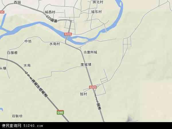 中国海南省三亚市崖城镇地图(卫星地图)图片