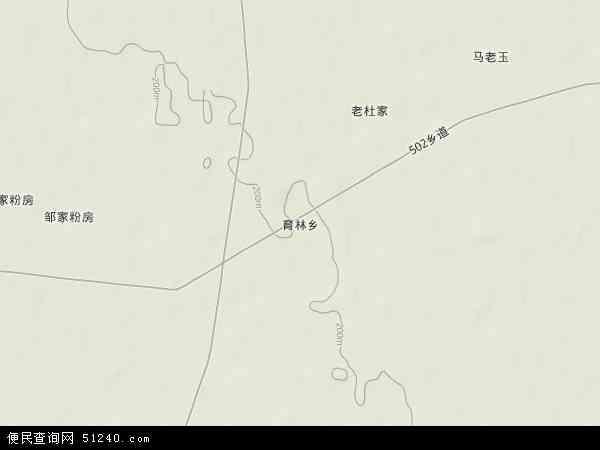 中国黑龙江省绥化市明水县育林畜牧场地图(卫星地图)