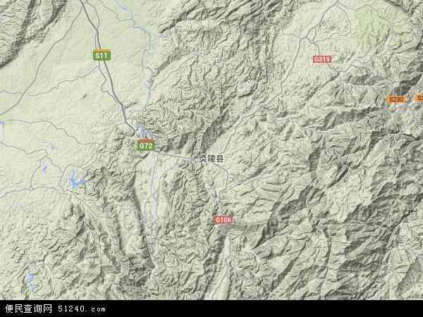 中国湖南省株洲市炎陵县地图(卫星地图)