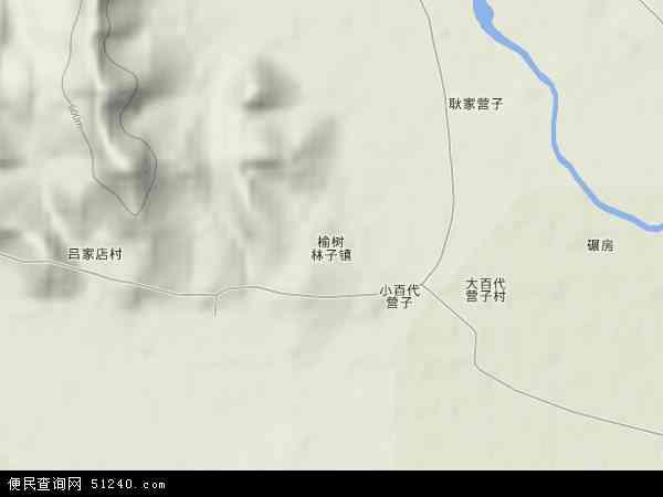 中国河北省承德市平泉县榆树林子镇地图(卫星地图)