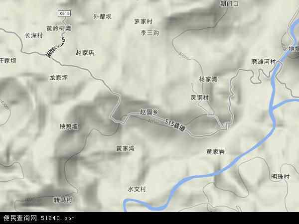赵固乡2017年卫星地图 中国四川省达州市达川区赵固乡地图