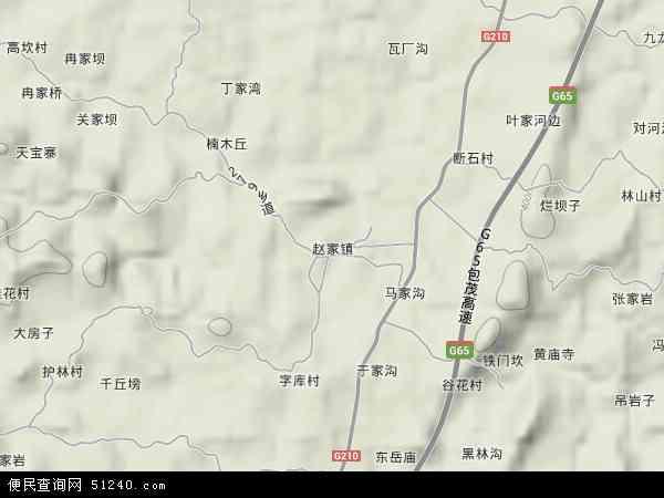 赵家镇2017年卫星地图 中国四川省达州市达川区赵家镇地图