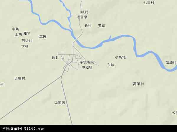中国海南省省直辖县级行政区划儋州市中和镇地图(卫星地图)