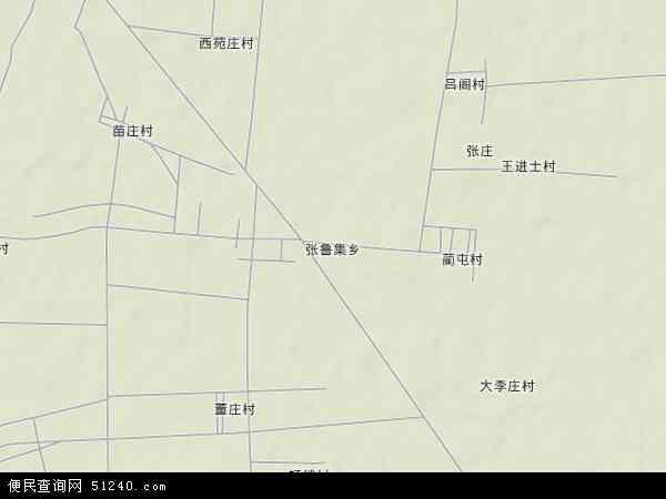 中国山东省菏泽市郓城县张鲁集乡地图(卫星地图)