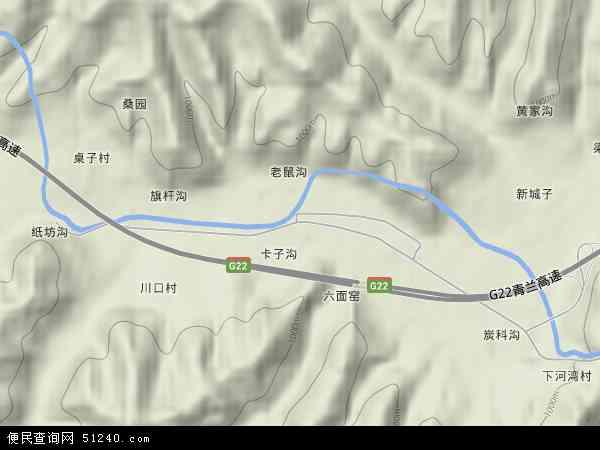 中国陕西省延安市富县张村驿镇地图(卫星地图)