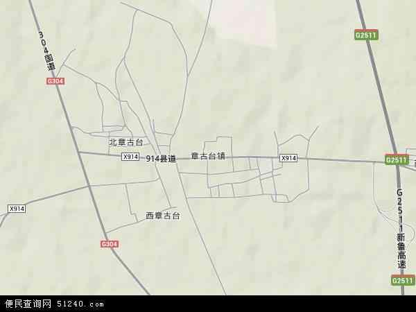 中国辽宁省阜新市彰武县章古台镇地图(卫星地图)