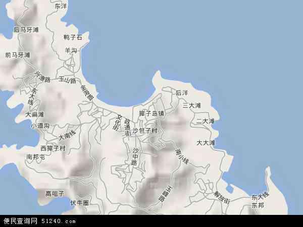中国辽宁省大连市长海县獐子岛镇地图(卫星地图)