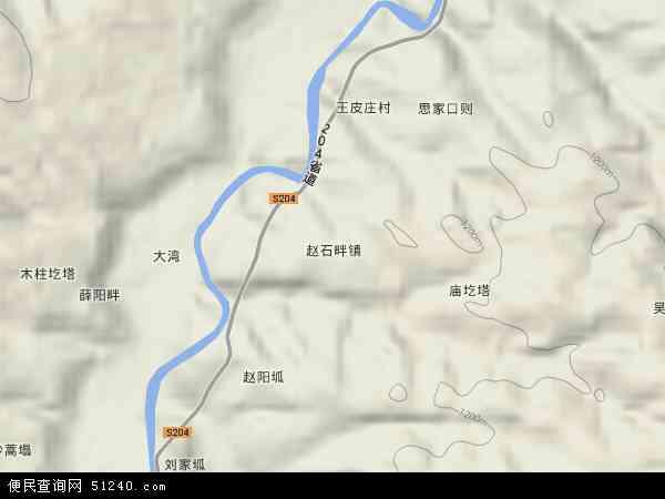 中国陕西省榆林市横山县赵石畔镇地图(卫星地图)