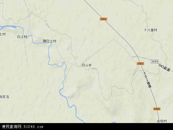中国黑龙江省齐齐哈尔市龙江县白山乡地图(卫星地图)