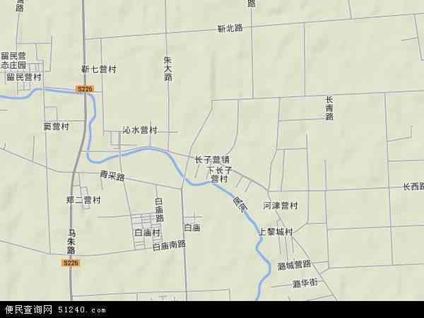长子营镇地图 - 长子营镇卫星地图