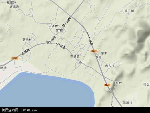 中国广东省汕尾市城区东涌镇地图(卫星地图)