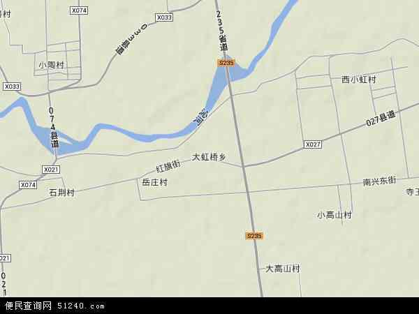 中国河南省焦作市武陟县大虹桥乡地图(卫星地图)