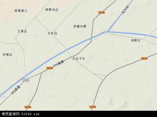中国甘肃省酒泉市金塔县大庄子乡地图(卫星地图)