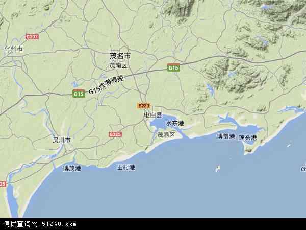 电白盐场地图 - 电白盐场卫星地图