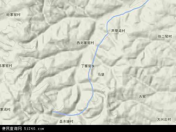 中国山西省朔州市右玉县丁家窑乡地图(卫星地图)