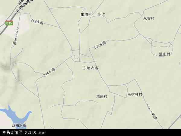 中国广东省揭阳市惠来县东埔农场地图(卫星地图)