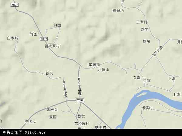 中国广东省揭阳市揭西县东园镇地图(卫星地图)图片
