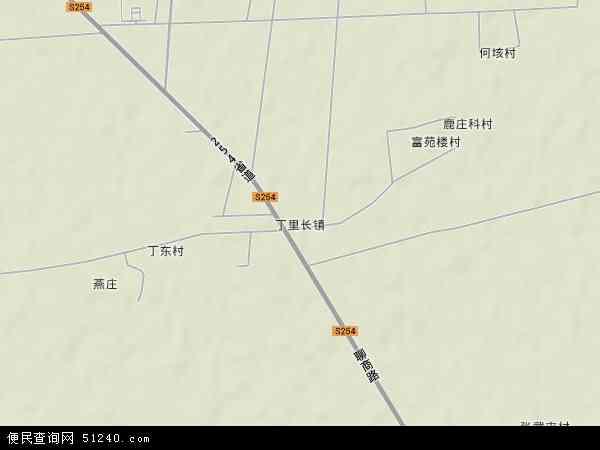 中国山东省菏泽市郓城县丁里长镇地图(卫星地图)
