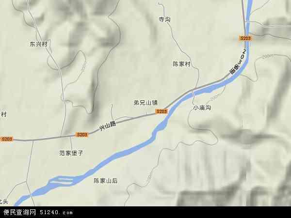 中国辽宁省丹东市凤城市弟兄山镇地图(卫星地图)